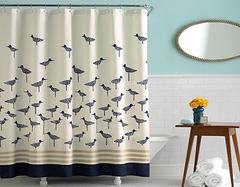 打造干湿分离卫浴间全靠浴室帘 教你选购靠谱浴室帘