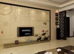 瓷砖背景墙好在哪 让你家客厅提升一个档次