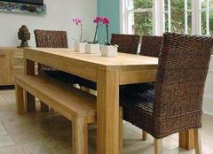实木餐桌如何辨别贴皮 三招学会