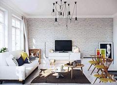 北欧风电视墙设计特点有哪些 看电视成了一种享受