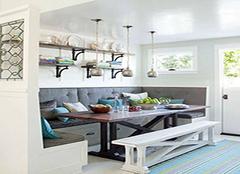 卡座餐桌设计方案有哪些 你家还是传统的设计吗