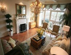 美式乡村客厅这样软装,尽显轻奢风格调