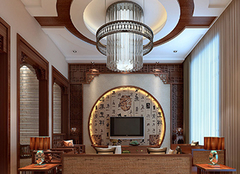 中式电视背景墙设计要领 领略中式文化
