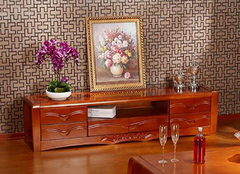 实木中式电视柜的优缺点介绍 也是一道风景线