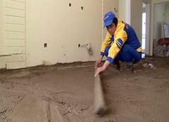 找平水泥砂浆的小步骤 方便后期施工