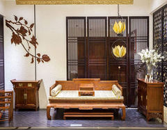 红木家具客厅装修常见的几种摆放方式