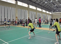 冠军羽毛球塑胶地板的四大优势