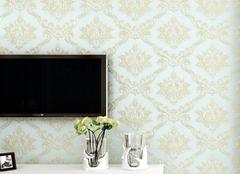 电视机背景无纺布墙纸怎么买  无纺布壁纸选购