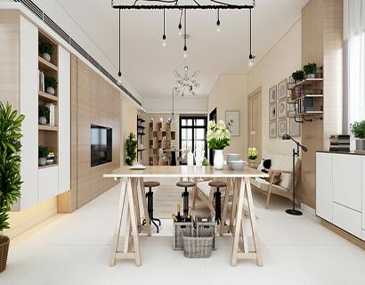 新古典裝修樣板房設計效果 輕裝又豪華