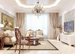 欧式客厅装修设计注意要点 简约不失华丽