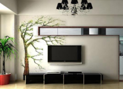 电视背景墙墙绘设计 墙绘价格一般怎么算啊