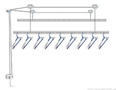 升降式晾衣架 升降式晾衣架如何安装?