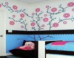 时尚创意手绘墙 让儿童房卧室更加妙趣横生