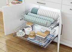 橱柜拉篮规格有哪些 拉篮安装示意图
