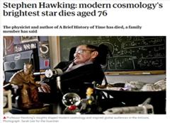 今日快讯!英国著名物理学家霍金去世