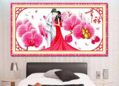 卧室床头可以挂十字绣吗 挂什么图案好看呢