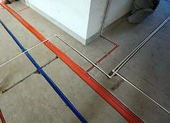100平改水电一般多少钱 三室一厅电路排线图