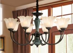 这款美式艺术陶瓷吊灯,客厅,餐厅,卧室,都可以看到它!