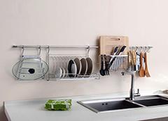 厨房挂件不锈钢 厨房挂件太空铝好还是不锈钢好