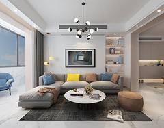 现代简约装修三室两厅两卫样 三室两厅两卫装修设计