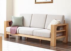 实木沙发图片大全 2018全实木布艺沙发客厅效果图