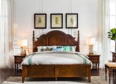高品质的美式实木床,婚房实木床价格及图片