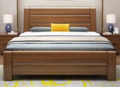 1790元就可以买到一款核桃木简约现代抽屉储物实木床,划算!