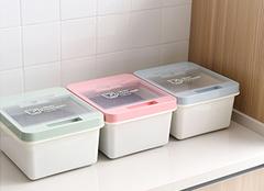 大米生虫子怎么办 家用塑料米桶图片