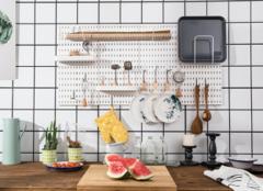 家居生活巧手:洞洞板网格板一字隔板最新置物架图片了解一下?