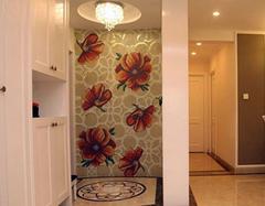 进门直对客厅玄关设计 客厅玄关柜子设计要点