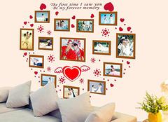 心形照片墙怎么摆 10张照片墙怎么摆好看