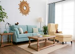 客厅窗帘和沙发的搭配 客厅用蓝色窗帘好看吗