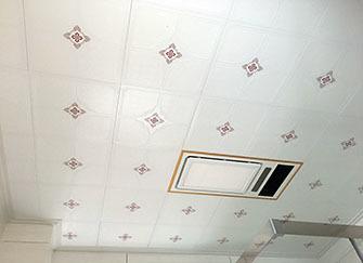卫生间吊顶材料 卫生间铝扣板吊顶安装