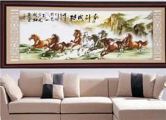 客厅挂十字绣图案选择 客厅十字绣挂多高合适