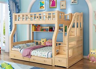儿童床为什么用松木 松木实木床的优缺点