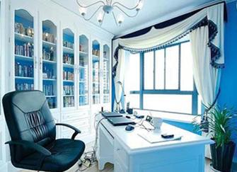 地中海风格书房特点 地中海风格书房设计说明 地中海风格书房装修效果案例