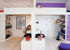 兄妹双人儿童房设计 两个孩子房间如何装修 兄妹共用儿童房装修效果案例