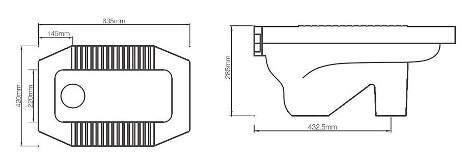 蹲便器安装尺寸是多少?