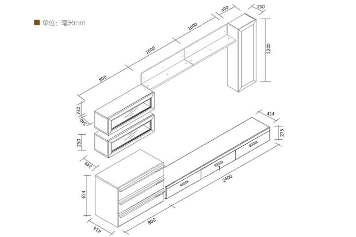 电视柜一般尺寸是多少?