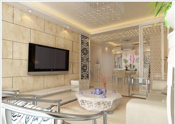 瓷砖做客厅电视背景墙可以么,有啥优缺点?