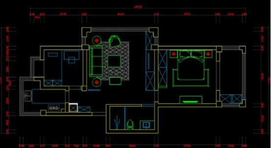石家庄这种客厅布局该怎么改动呢?