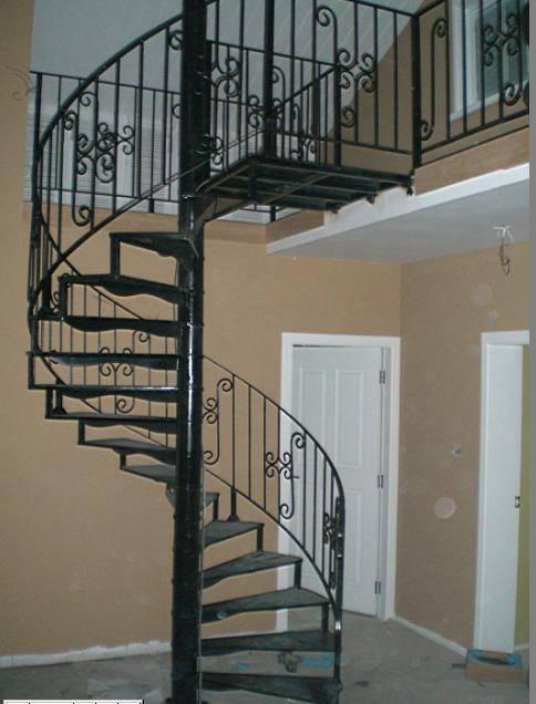 铁艺旋转楼梯2015最新装修效果图?