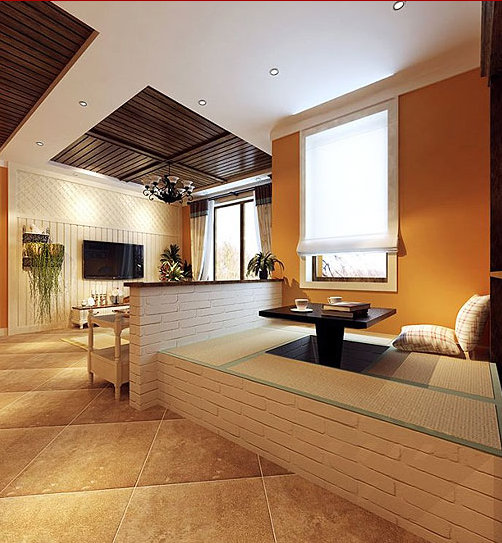 我想在客厅装修一个榻榻米,谁有榻榻米装修效果图的?
