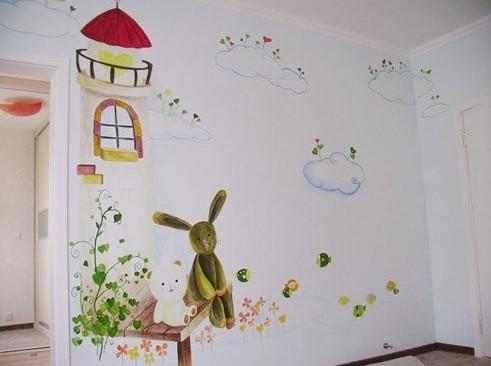 儿童房手绘墙画好看吗?