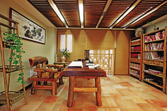 东莞古朴书房怎么装修设计?