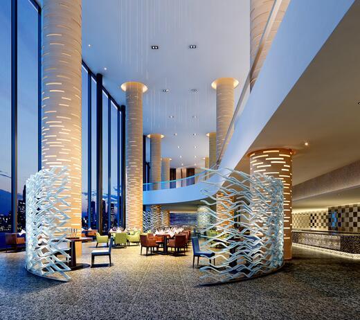 大型酒店的水电安装.