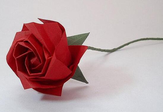 玫瑰花怎么折?