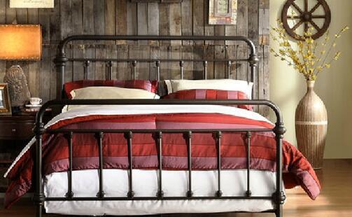 欧式双人铁床价格。