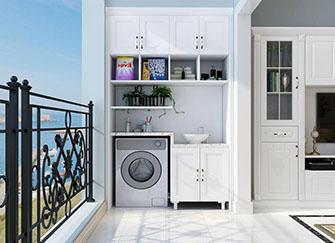 阳台放洗衣机