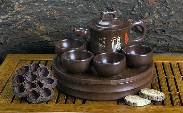 木鱼石茶具